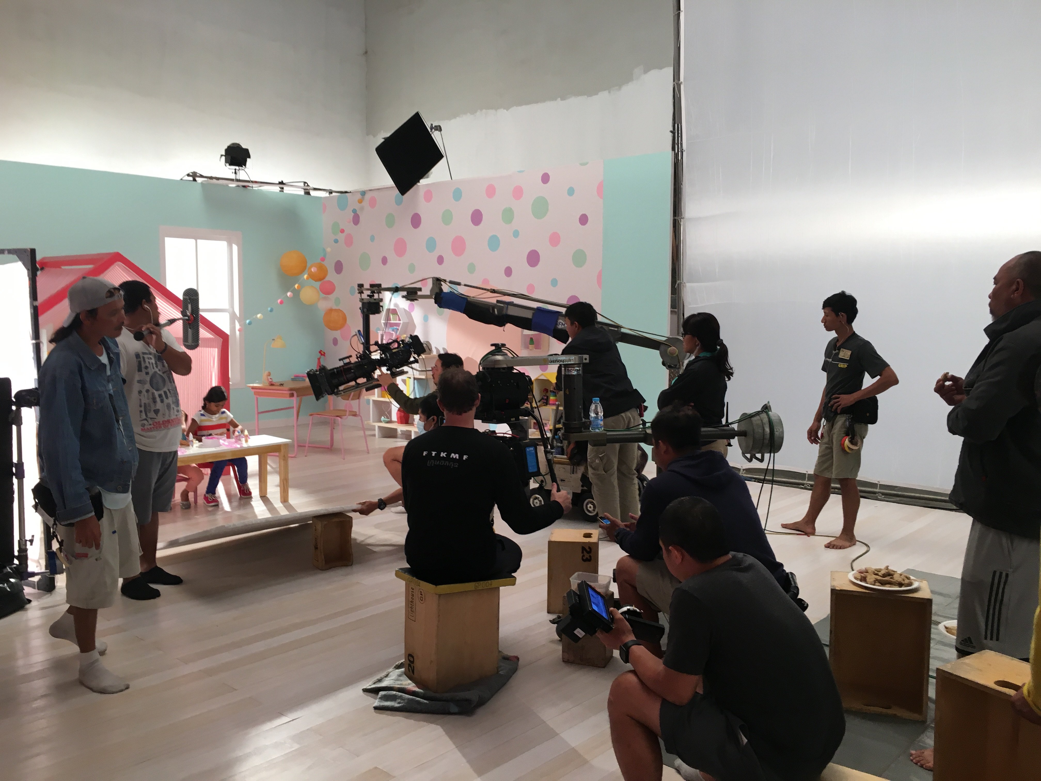 Maya - on set of the Barbie shoot