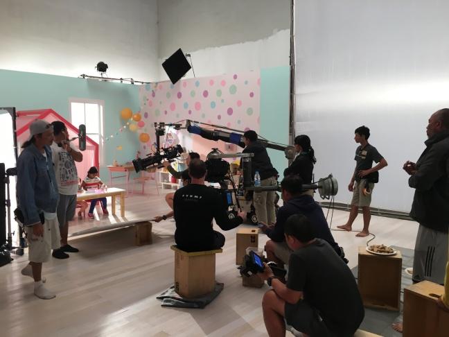 Maya - on set of the Barbie shoot